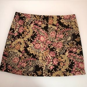 Retro mini skirt by A.Byer foral juniors size 11